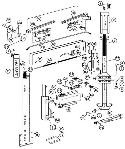 rotary 2 post lift wiring diagrams - 28 images