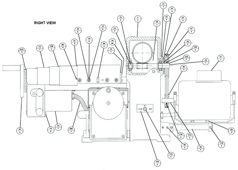 Brake Lathe Parts Breakdown, for Accuturn model 8922, Right View ...